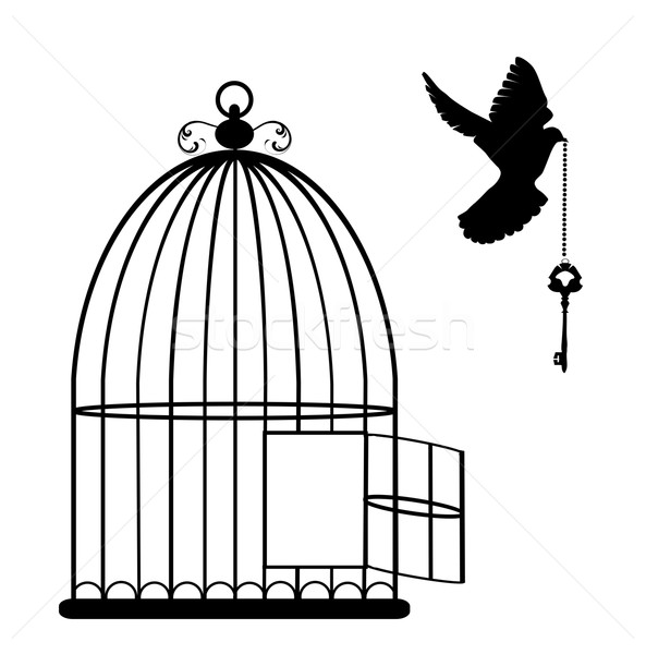 593x600 Image Result For Cage Line Drawing Art