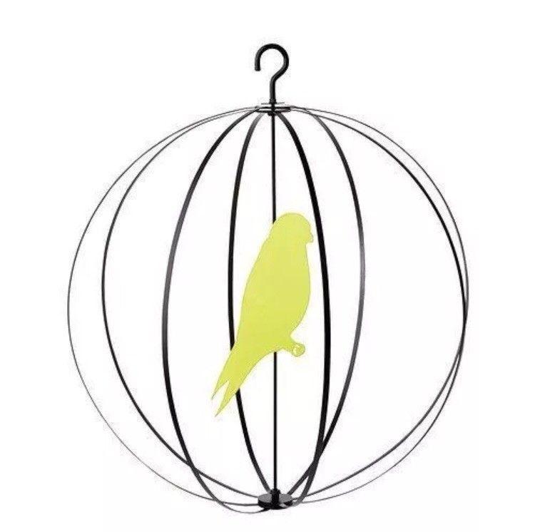 750x746 New Ikea Kladsam Hanging Round Bird Cage Mobile W Black Steel