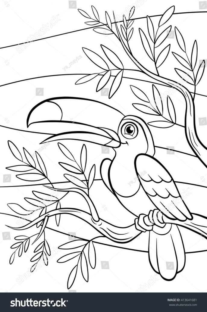 687x1036 Coloring Little Birds Coloring Book Learn Colors With Children