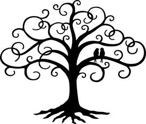 300x254 Love Bird Swirled Tree Of Life 24 Tall Black Metal Wall Art Decor