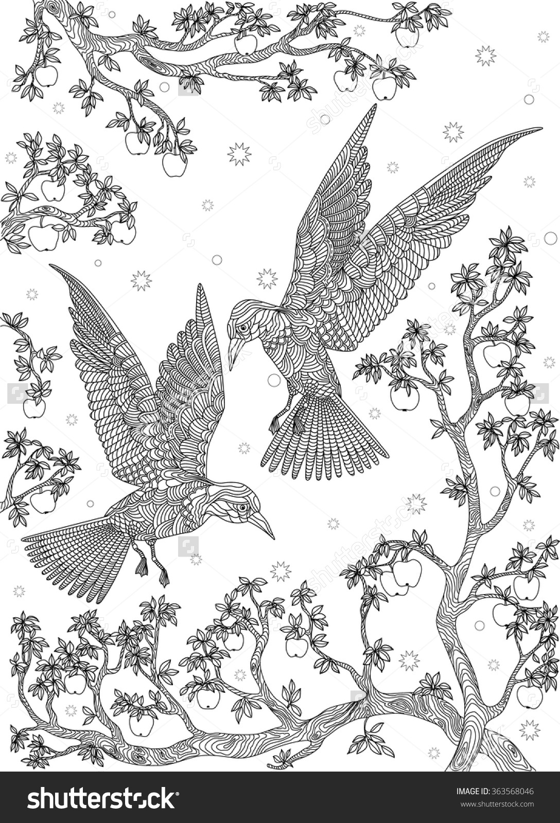 1088x1600 Bird On A Tree Drawing Drawn Bird
