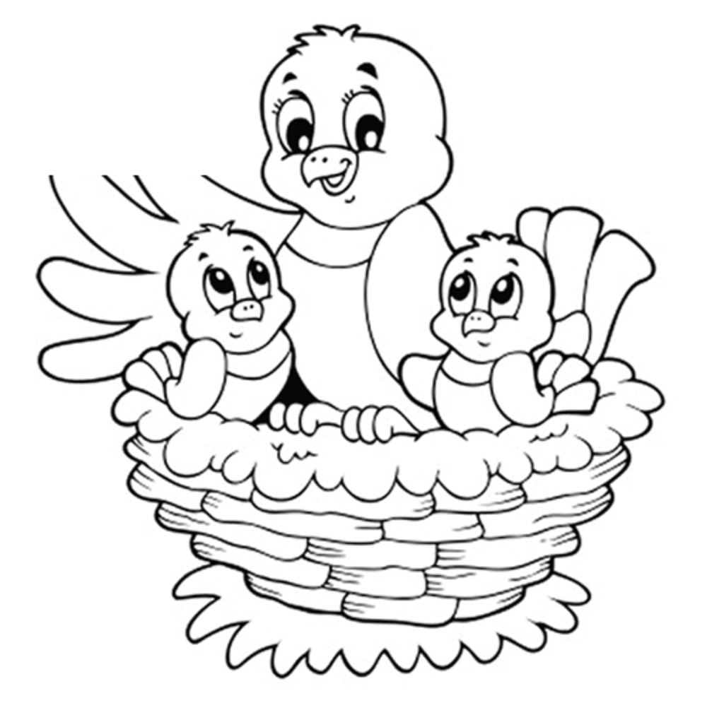 It's just a graphic of Striking nest coloring pages
