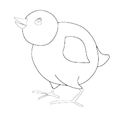 400x384 Baby Bird Coloring Page Bird Outline Drawing Baby Bird Nest