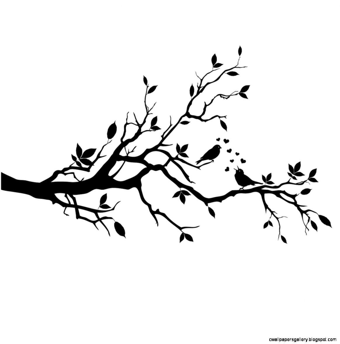 1164x1177 Bird Branch Silhouette Clip Art