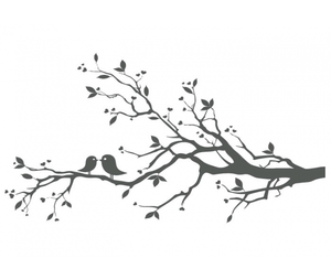 300x254 Love Birds On Branch X Free Images