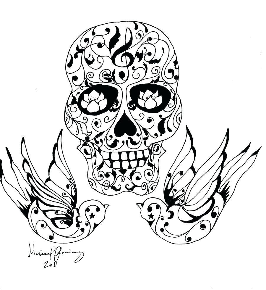 Nett Sugar Skull Tattoo Malvorlagen Ideen - Beispiel Wiederaufnahme ...