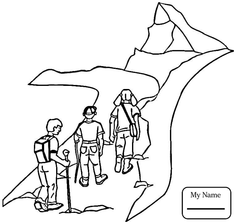 765x725 Activities Bird Watching Hiking Camping Coloring Pages