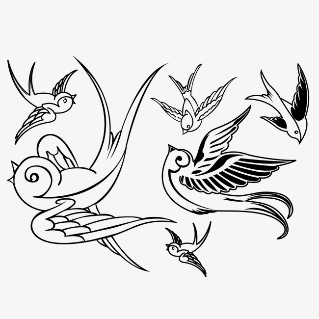 650x650 Hand Painted All Kinds Of Birds Flying Posture, Bird, Flying Bird