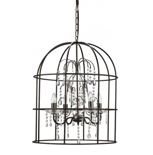 583x593 67 34h Metal Birdcage Lamp W Glass @ Deko