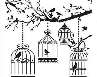 340x270 Bird Cage Vector Etsy