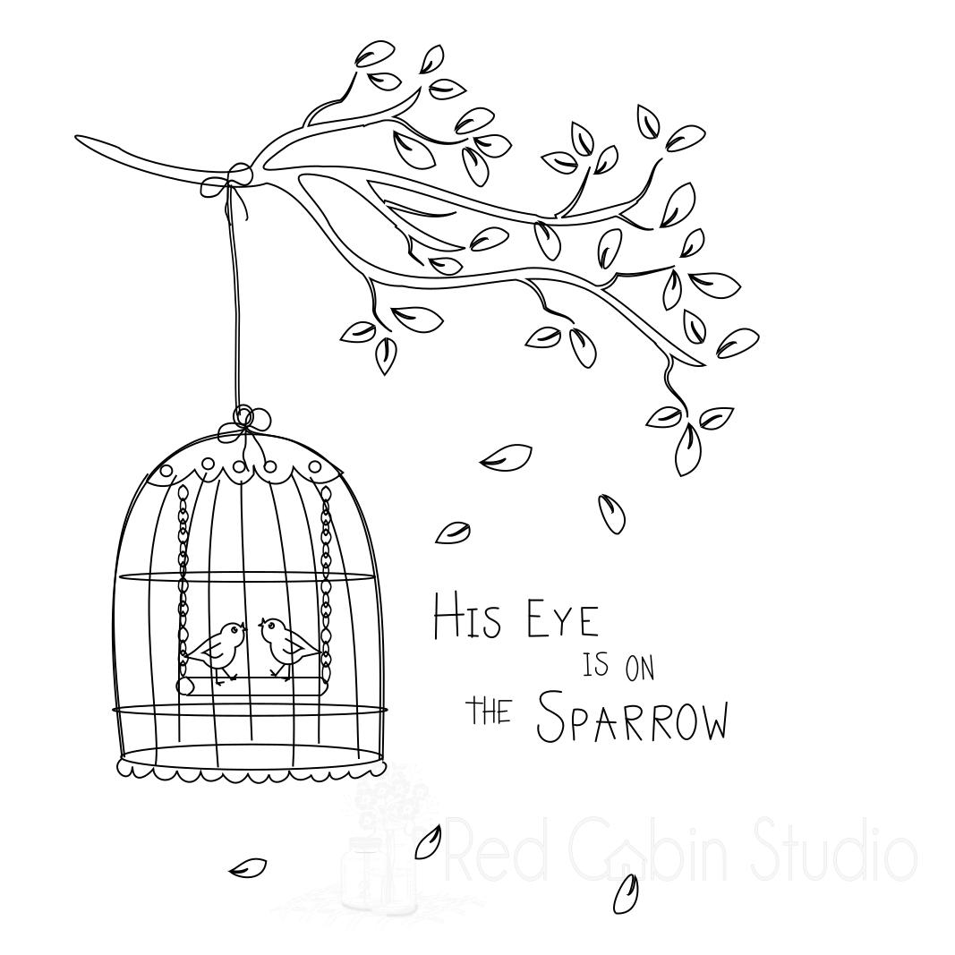 1067x1067 Birdcage Sketch Svg Digital Download
