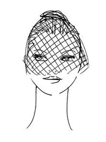 375x500 Birdcage Sketch Bridal Illustrations Sketches