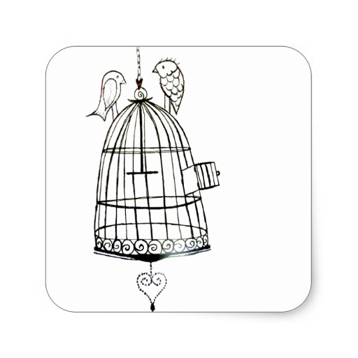 512x512 Open Birdcage Drawing