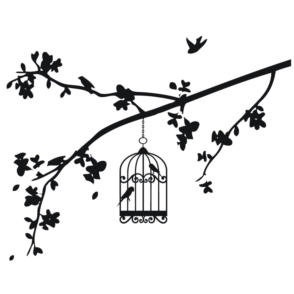 1024x1024 Bird In Cage Drawing Black And White Drawings Of Bird, Birdcage