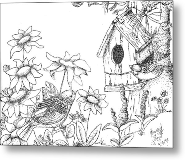 600x517 Bird House Drawing By Scarlett Royal