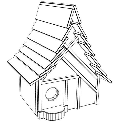 500x500 3d Birdhouse Cgtrader