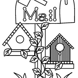 300x300 How To Draw Bird House Coloring Pages Best Place To Color
