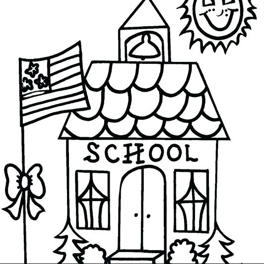 532x533 The White House Coloring Page House Coloring Pages School House