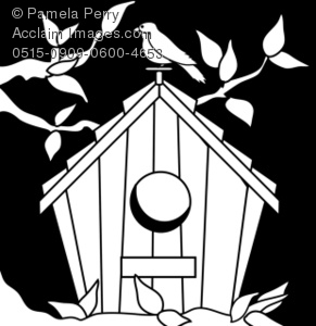 Birdhouse Drawing Images At GetDrawings