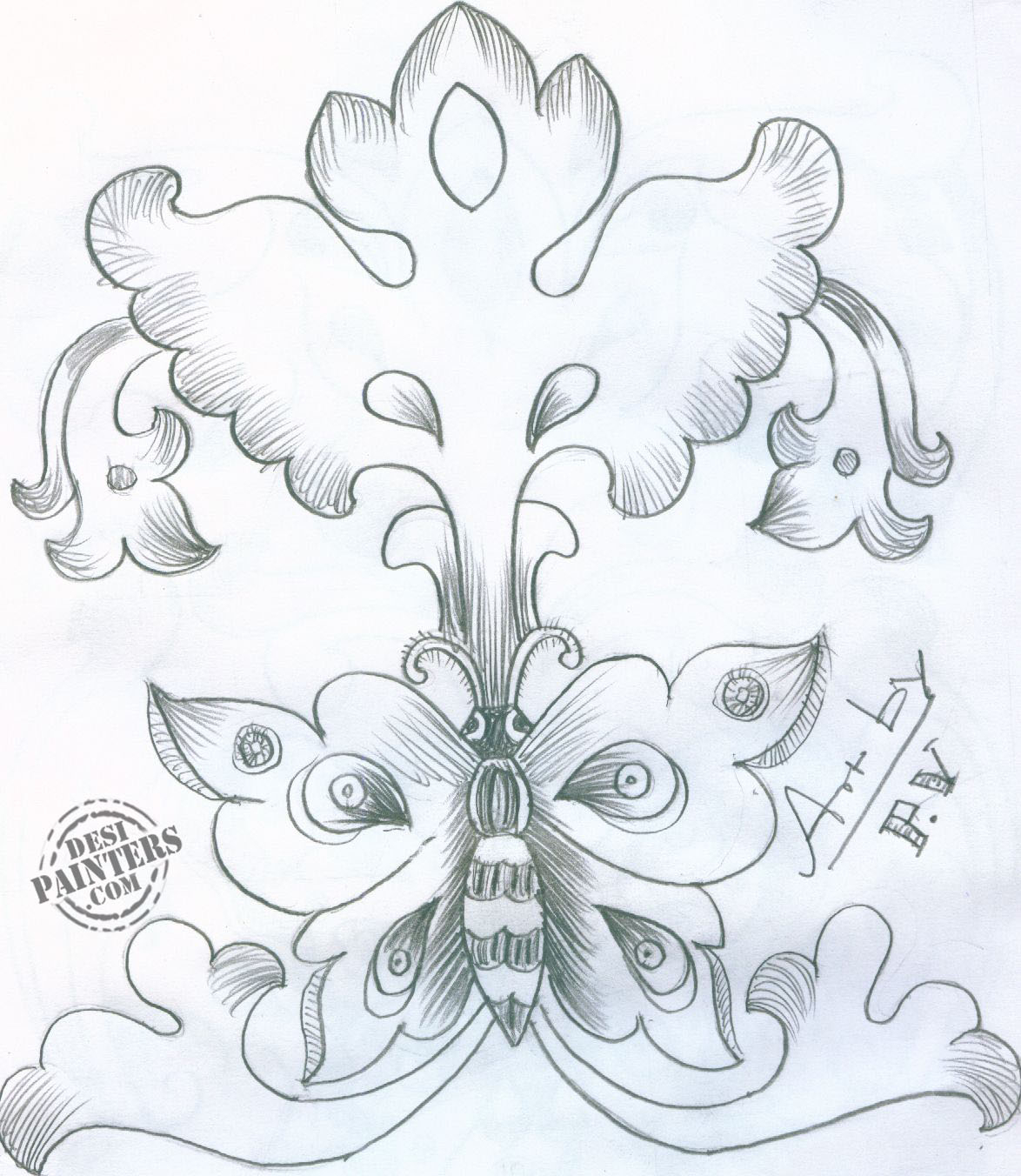 1174x1352 Love Flower Drawing In Pencil Love Flower Pic In Pencil Drawing