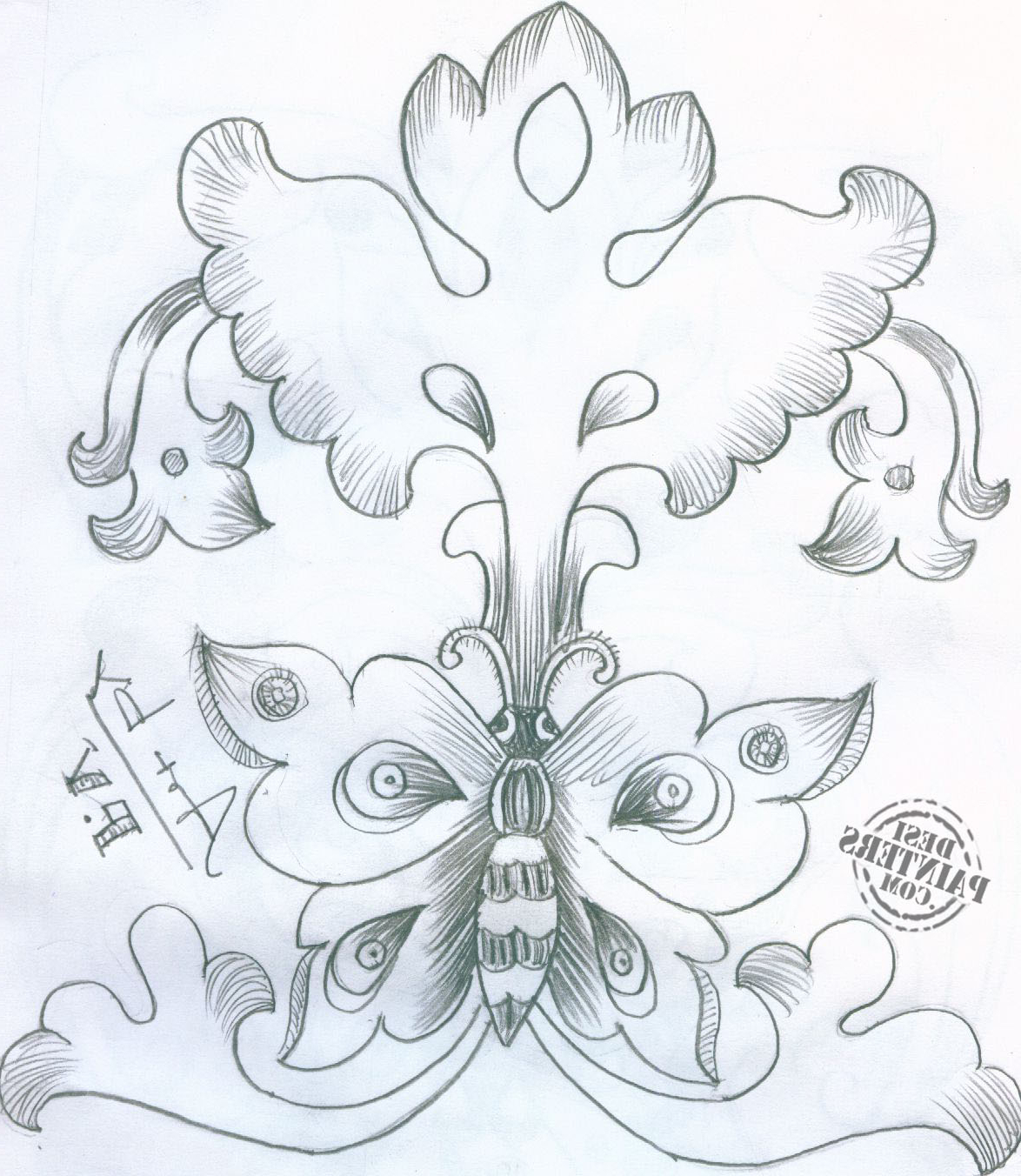 1174x1352 Pencil Drawings Of Flowers And Birds