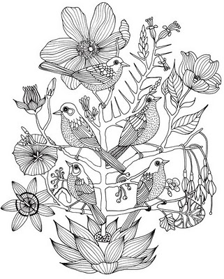 321x400 Birds And Flowers Doodles Amp Drawings Bird, Flowers