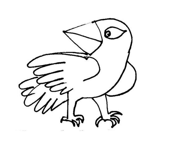 600x474 Cartoon Birds Coloring Pages