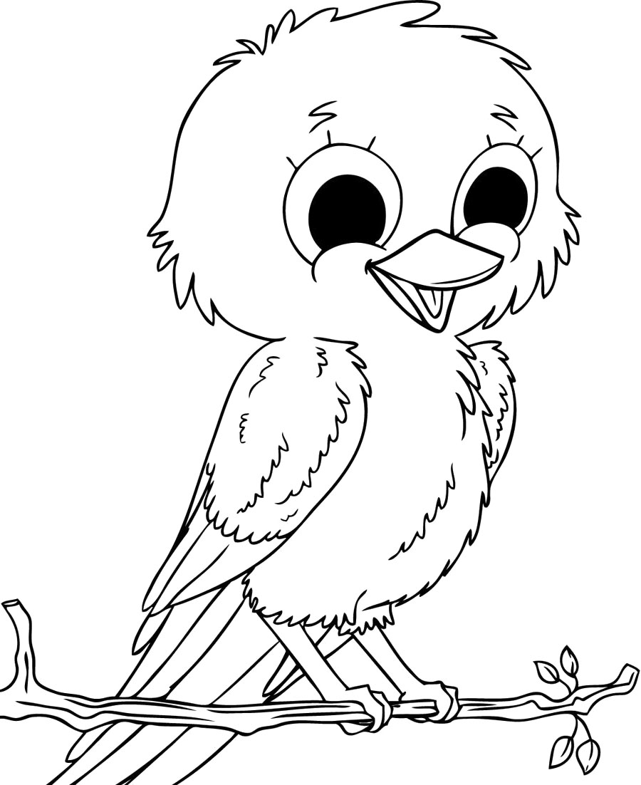 900x1102 Baby Sparrow Birds Coloring Pages At Bird Page
