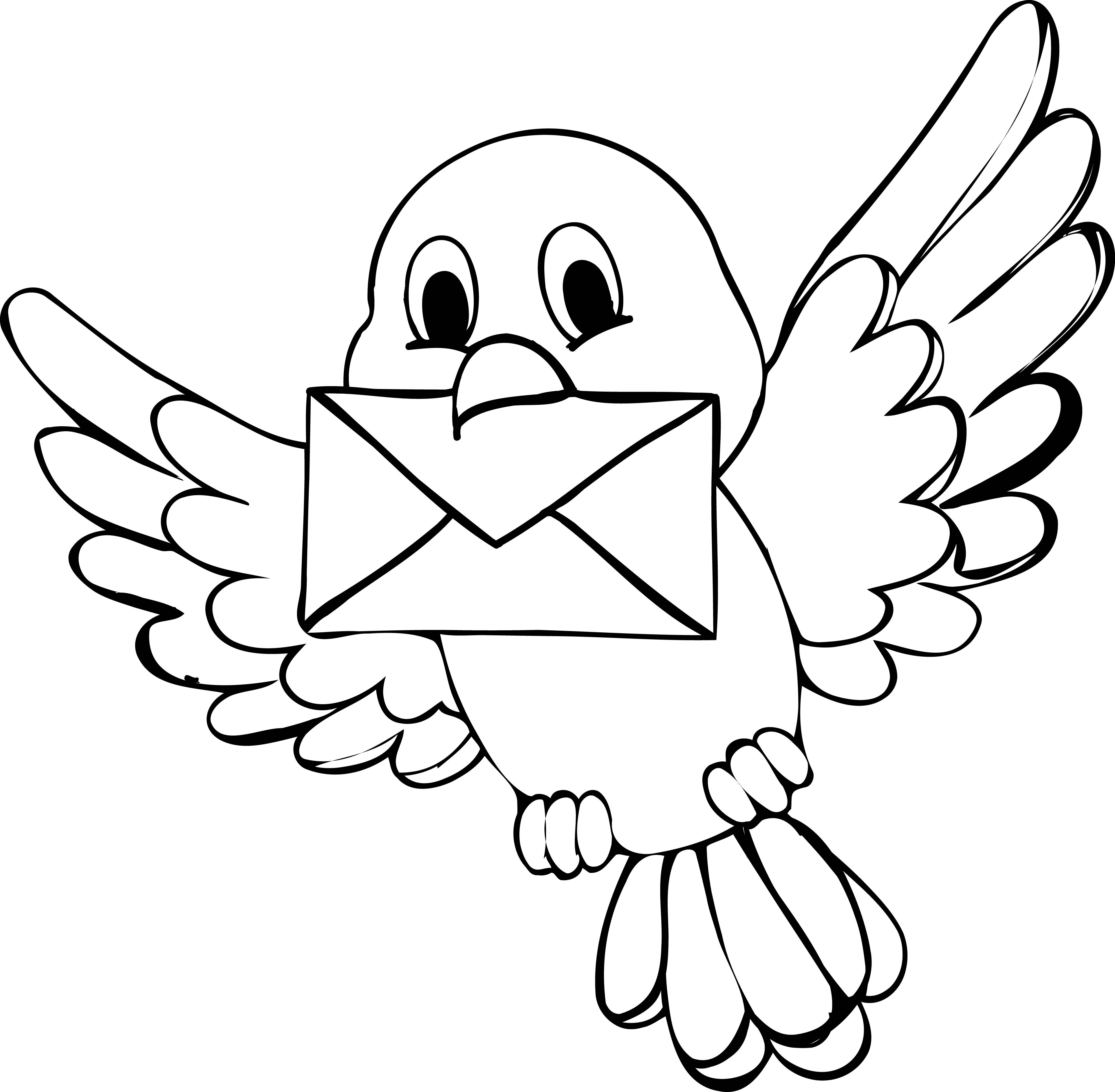 3851x3773 Cute Bird Coloring Page Wecoloringpage