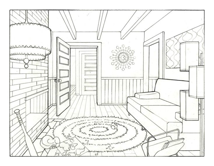 735x569 The Best Room Perspective Drawing Ideas