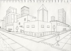 236x171 Two Point Perspective City 8th Grade Two Point Perspective City