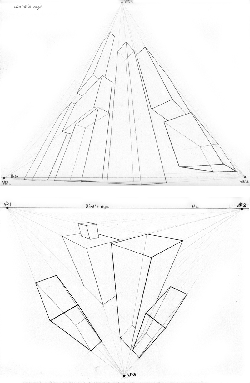 800x1224 3 Point Perspective Exercise By Beamer
