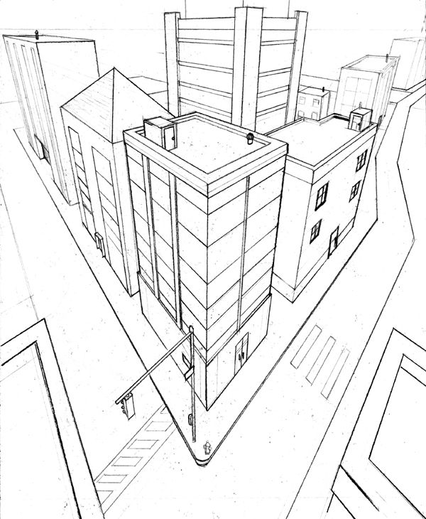 600x730 3 Point Perspective Exercise 2 By Beamer On Drawing