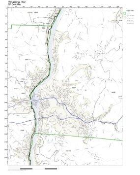 285x355 Buy 1870 Birds Eye Map Of Wheeling, West Virginia Birds Eye View