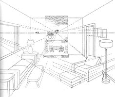 236x200 Visual Narrative Inspiration Perspective Drawing Living Room