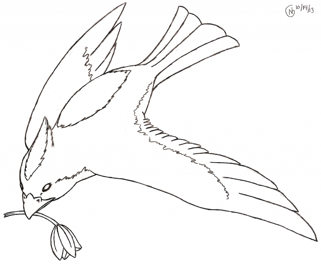 1024x845 Bird Flying Drawing How To Draw A Flying Bird, How To Draw A Bird