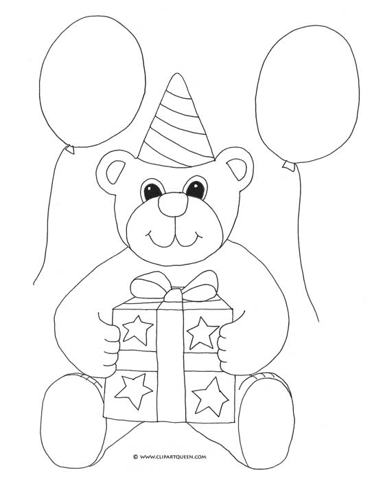 539x707 Birthday Coloring Pages