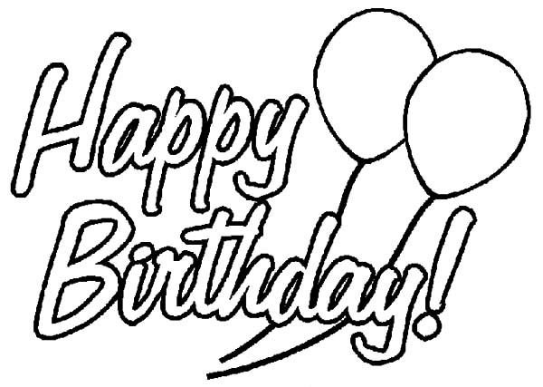600x427 Birthday Party Decorated With Balloons Coloring Pages