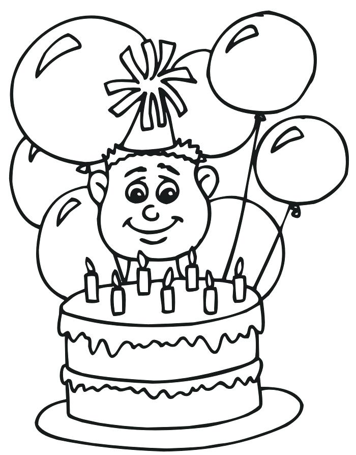 700x894 Balloon Coloring Pages Happy Birthday Balloons