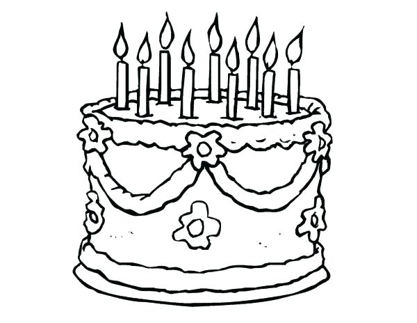 600x464 Cake Coloring Pages To Print Cake Coloring Page Coloring Page Cake