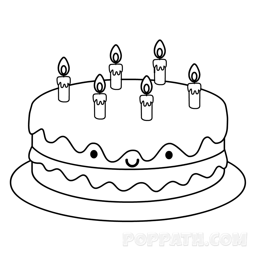 1000x1000 How To Draw A Birthday Cake Pop Path