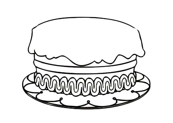 No Candles Cake Cartoon