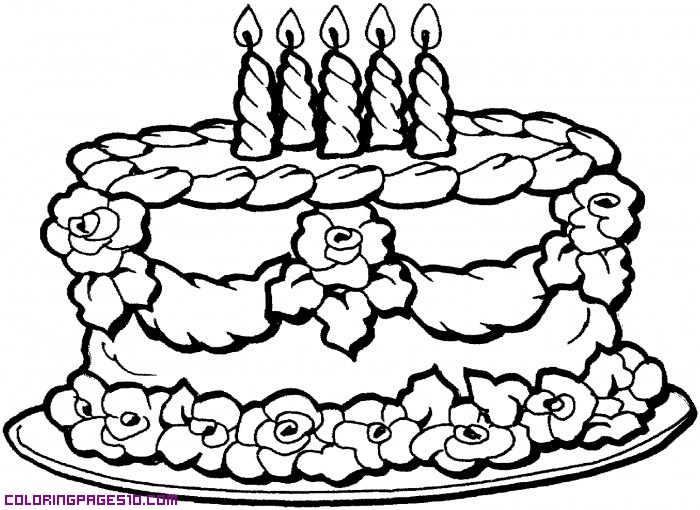 700x510 Image Result For Birthday Cake Drawing Easy Card Designs