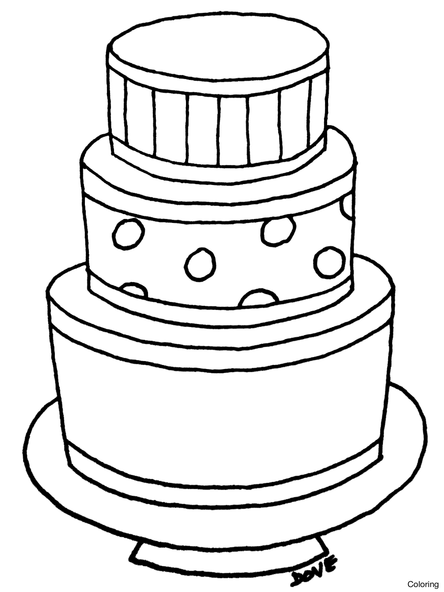 900x1200 Ptodkxggc Drawing Of A Cake Coloring Very Nice Drawings Birthday
