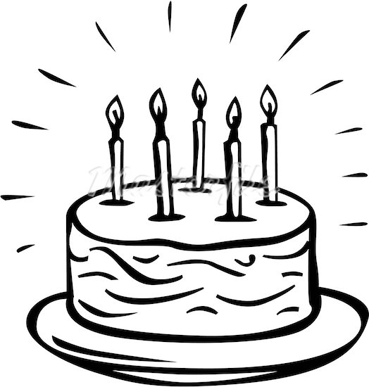 524x550 Birthday Cake Sketch Drawing Free Download Clip Art