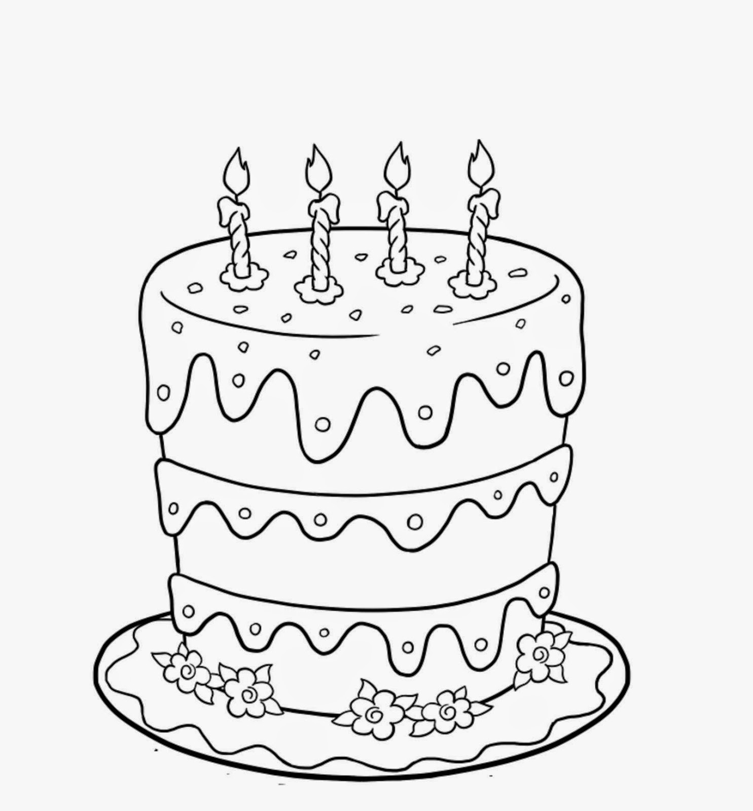 1485x1600 Colours Drawing Wallpaper Sweet And Yummy Happy Birthday Cake