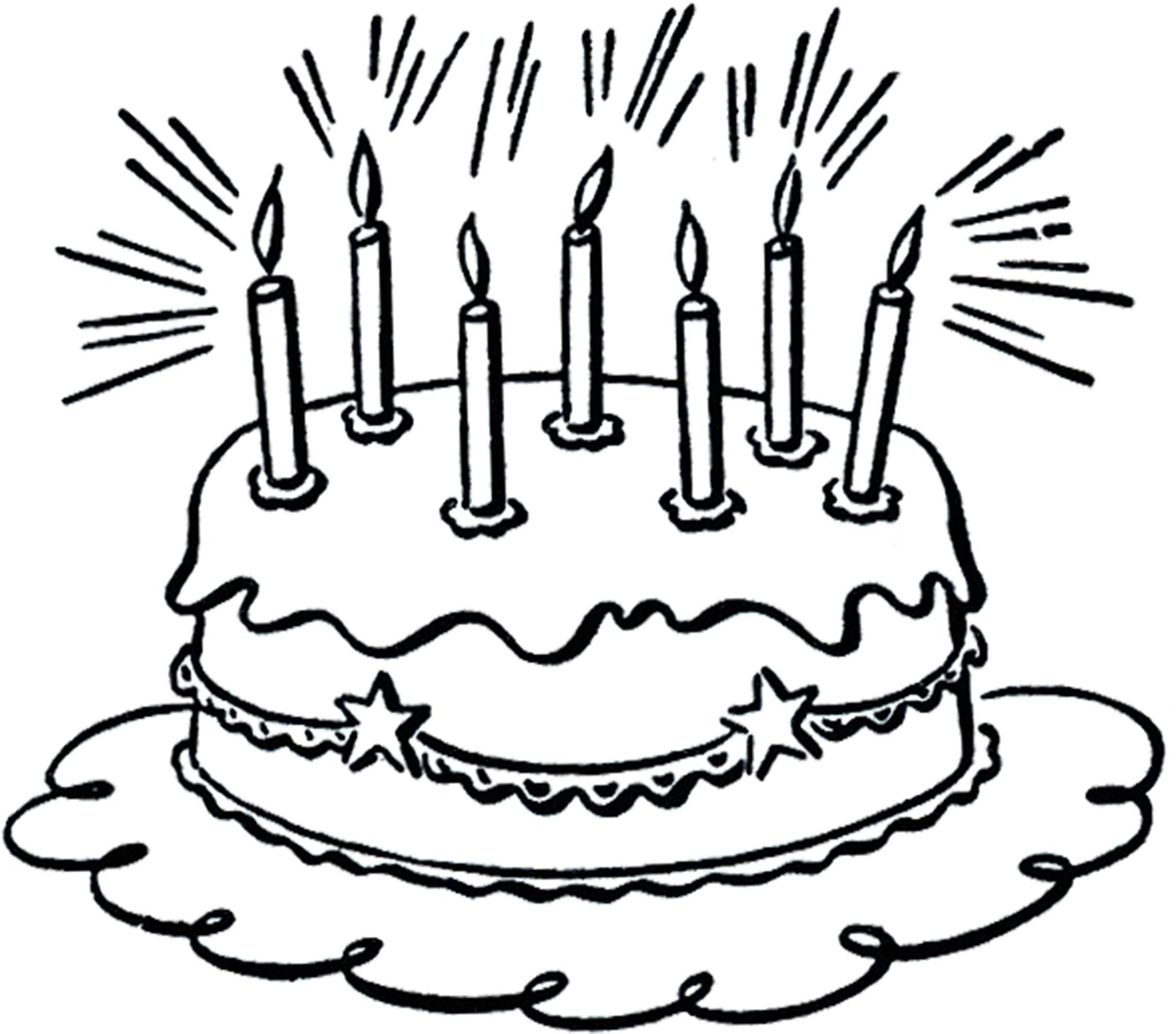 1800x1582 Birthday Cake Line Drawing Vintage Birthday Cake Line Art