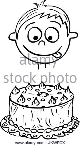 Birthday Cake Drawing Cartoon