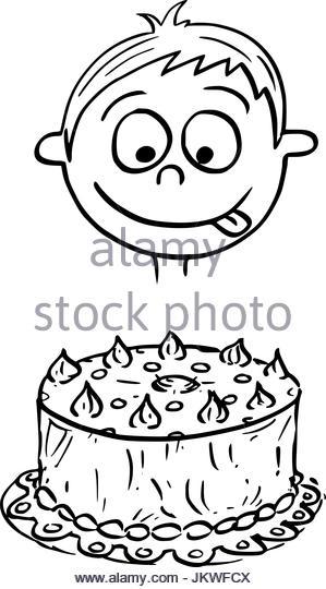 299x540 Cartoon Birthday Cake Stock Photos Amp Cartoon Birthday Cake Stock