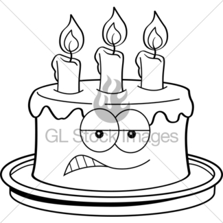 325x325 Cartoon Buzzard With A Birthday Cake. Gl Stock Images